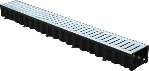 Лоток пластиковый Top 100/80 со стальной оцинкованной решеткой