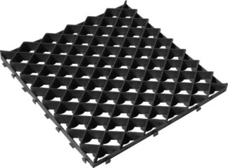 Газонная решетка 60*60 ромб (черная)