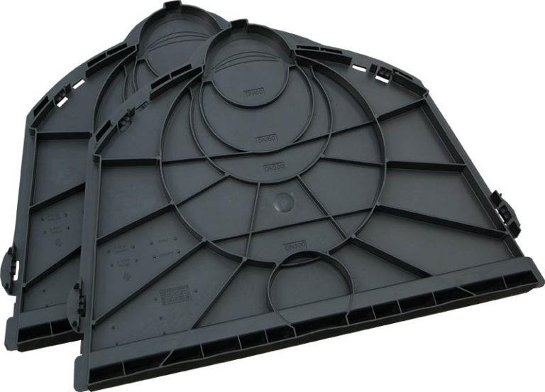Комплект заглушек для дренажного тоннеля (2 шт.)