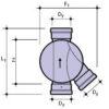 Днище дренажного колодца. Тип 3 — соединительное (правый приток)
