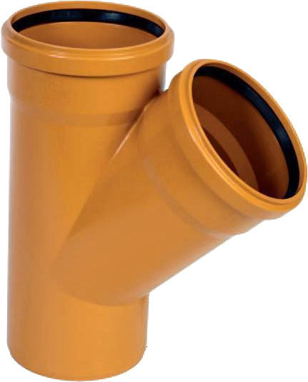 Тройник для трубы наружной канализации